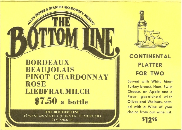 Bottom Line Table Card