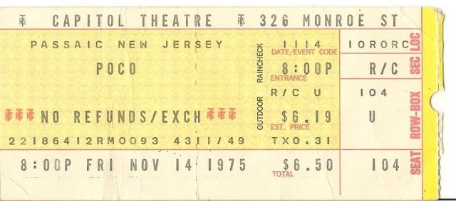 Poco & Tom Waits - Capitol Theatre - 11-14-75