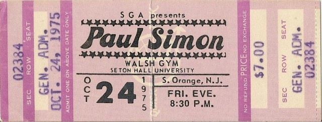 Paul Simon - Seton Hall 10-24-75