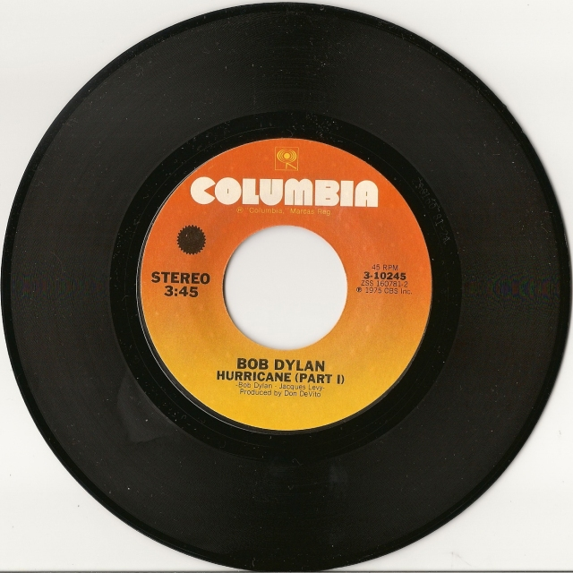 Bob Dylan Hurricane single