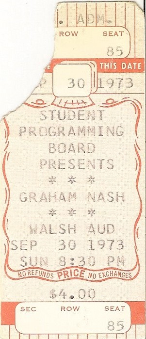 Graham Nash - Seton Hall - 9-30-73