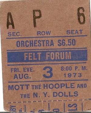 Mott the Hoople - Felt Forum - 8-3-73