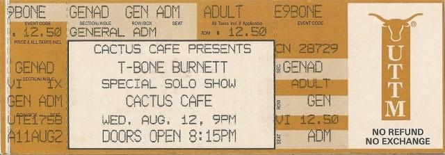T-Bone Burnett - Cactus Cafe 8-12-92