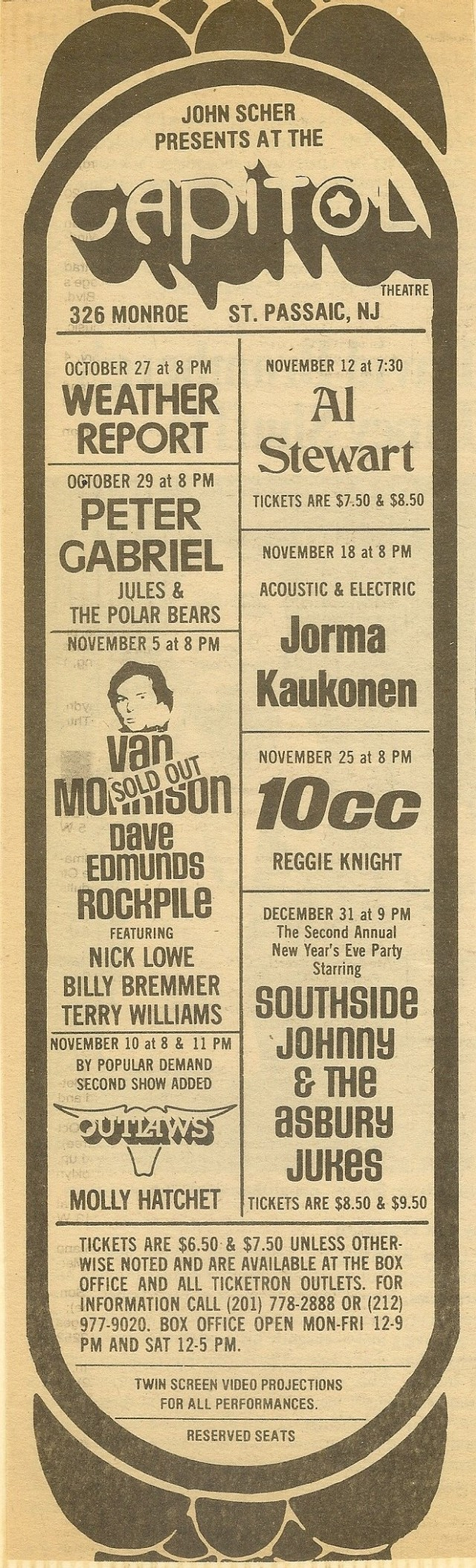 Van Morrison & Rocpile - Capital Ad