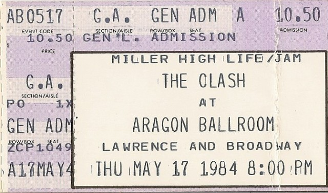 The Clash - Aragon Ballroom - 5-17-84
