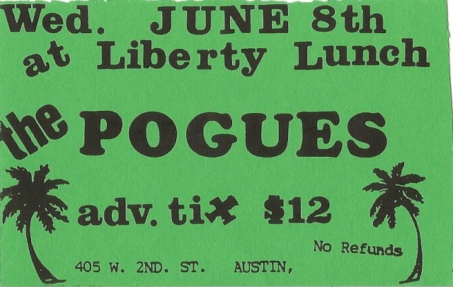 The Pogues - Liberty Lunch - 6-8-88