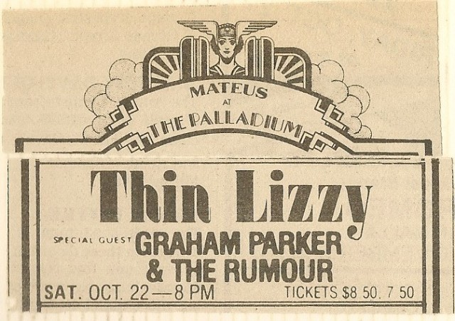 Thin Lizzy advert