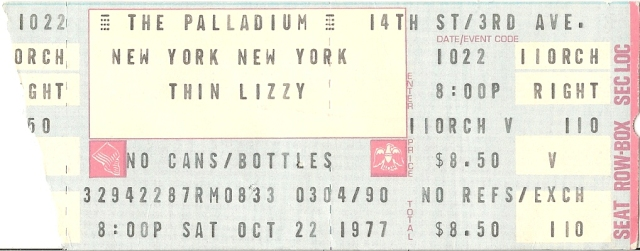 Thin Lizzy - Paladium - 10-22-77