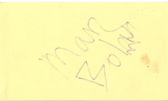 Marc Bolan autograph