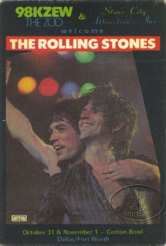 The Rolling Stones - Cotton Bowl - 11-1-81 Sticker