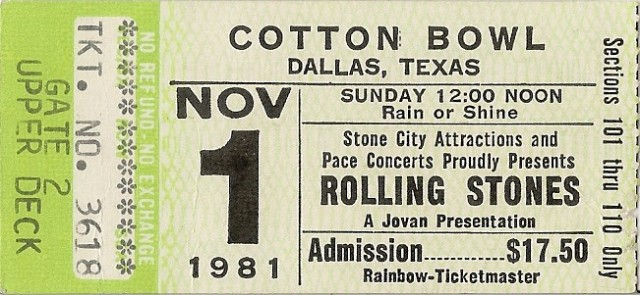 The Rolling Stones - Cotton Bowl - 11-1-81