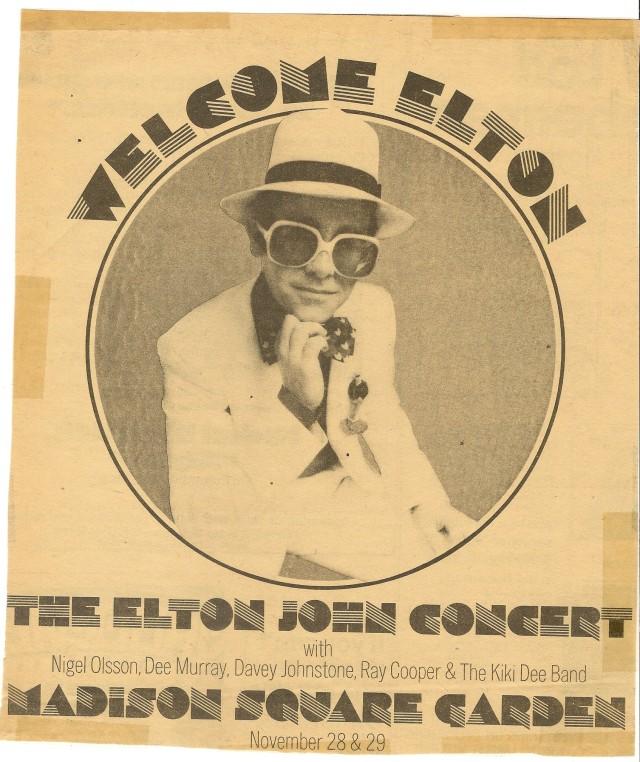 Elton John advert