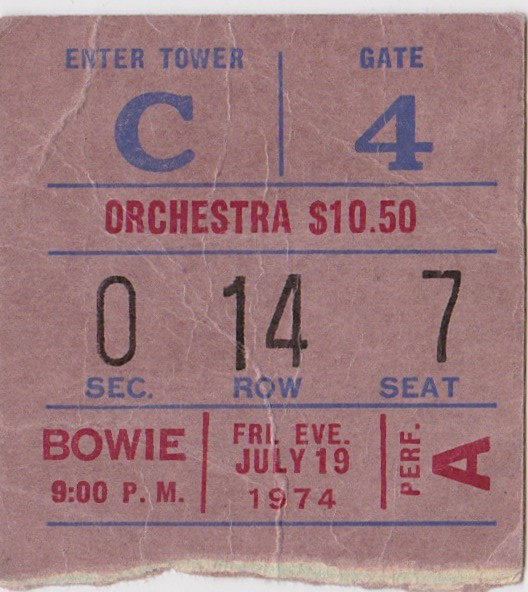 Bowie - MSG 74