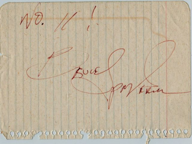 Springsteen autograph 1978 - RESIZE